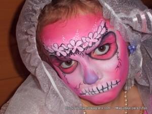 Maquillaje para niñas calabera