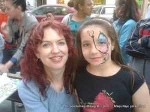 Maquillaje para niñas madre e hija