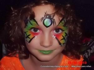 Maquillaje para niñas mariposa de colores