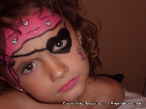 Maquillaje para niñas pirata