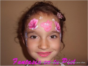 Maquillaje para niñas rosas rosadas