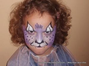 Maquillaje para niñas tigresa